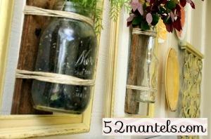 52mantels mason jar vase2