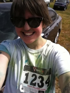 I completed a 5k Color Run, and I'm doing another one on April 27.