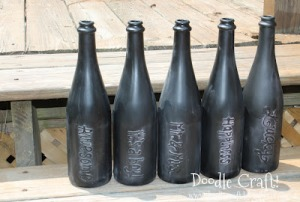 puff paint chalk board bottles