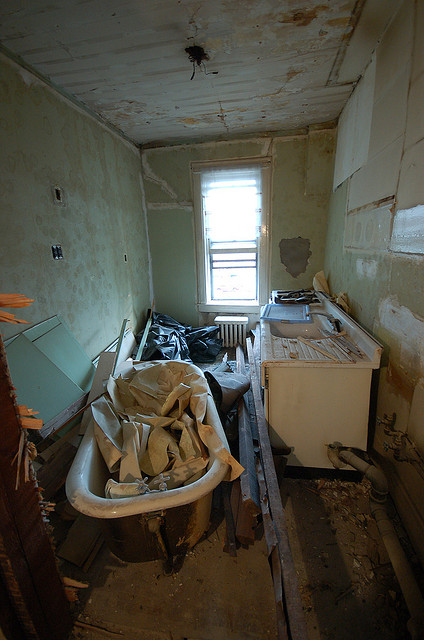 Just a little snippet of the renovation that was done. Clearly, she doesn't mess around! Photo taken by Stefanie Schiada