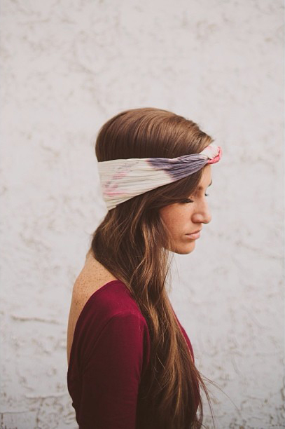 In a headband she made. Photo from Kinsey Mhire
