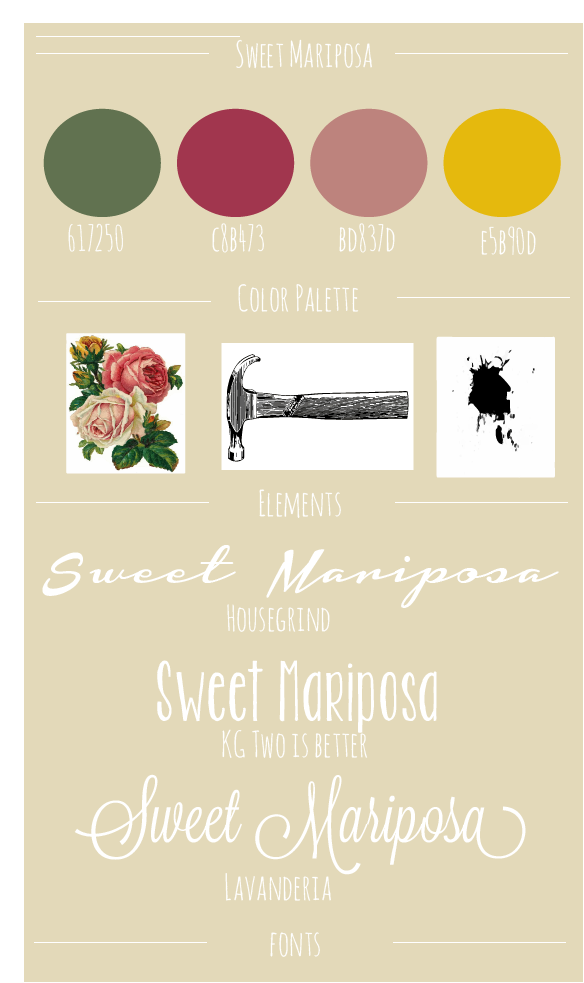 Sweet Mariposa Design Board