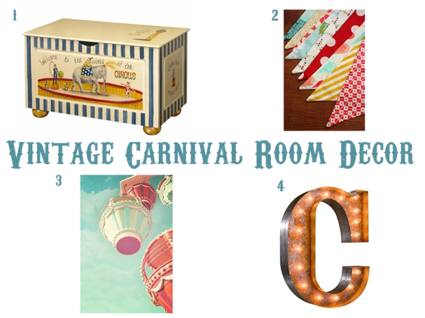 Vintage Carnival Room Decor