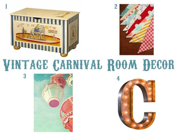 Vintage Carnival Room Decor