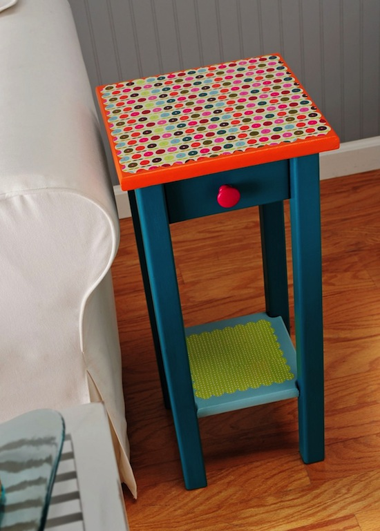 Endtable Upcycle. Photo from Amy Anderson