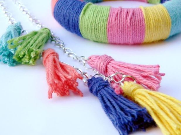 Image Credit: Amy Cluck McCallister. DIY Tassel Necklace and Bohemian Bracelet. Click the photo for the full tutorial.